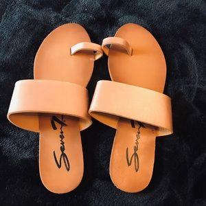 Seven7 Rose Gold Sandals